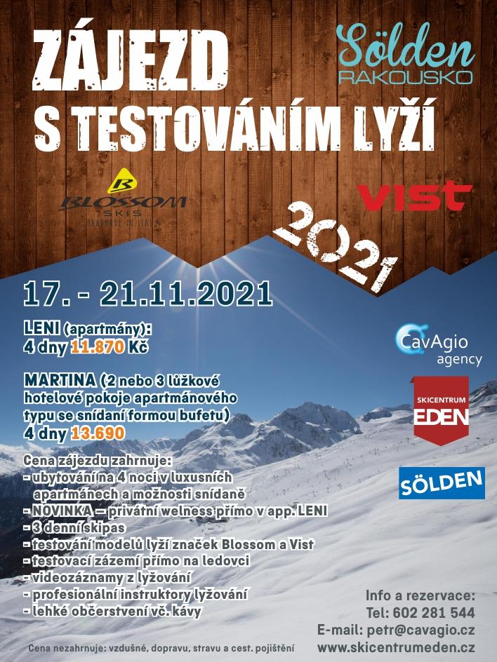 Testování lyží Blossom a VIST
